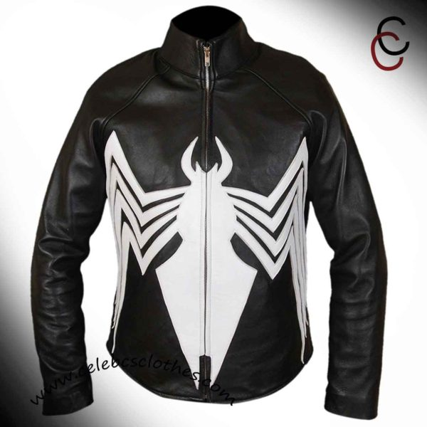 Spiderman venom leather jacket