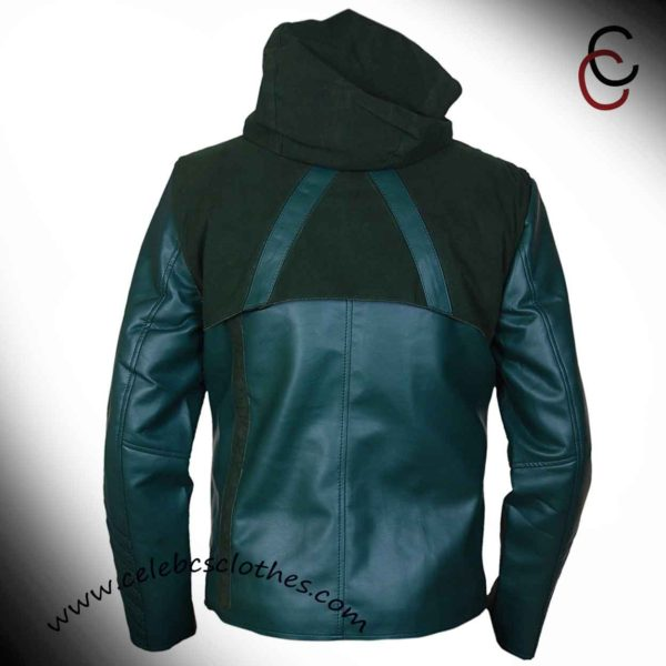 green arrow leather jacket