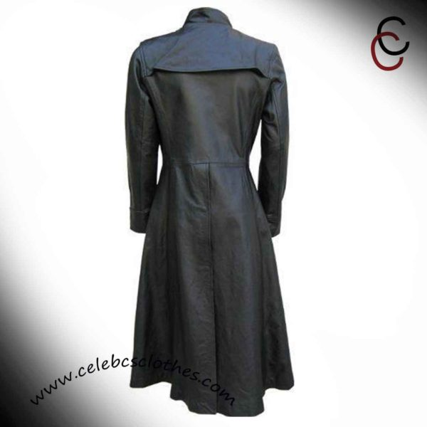 neo matrix leather coat