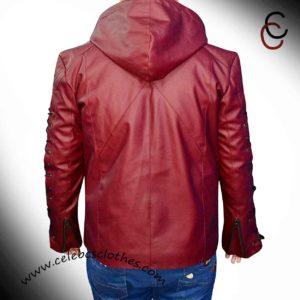 red arrow leather jacket