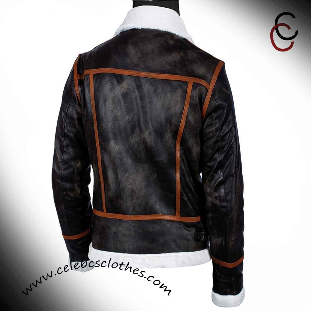 Leon Kennedy Jacket Resident Evil 4 Shearling Coat Celebs Clothes