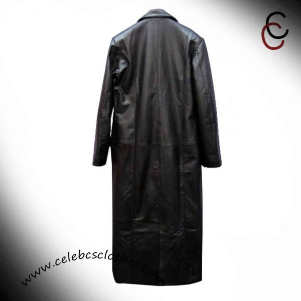undertaker leather trench coat