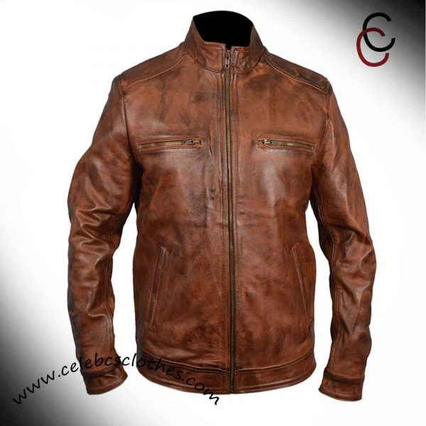 Grant Ward Brown Leather Jacket