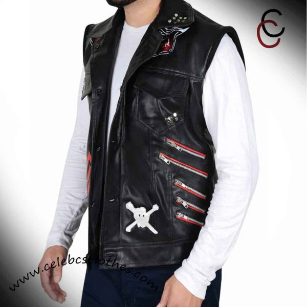 WWE BARON CORBIN LEATHER VEST