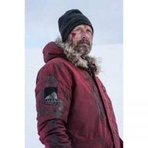 Arctic Mads Mikkelsen Red Shearling Coat