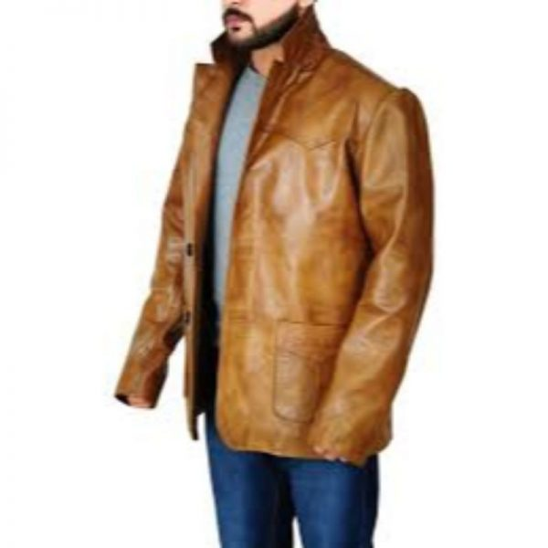 Leonardo Dicaprio Once Upon A Time In Hollywood Leather Jacket
