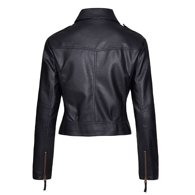 Red Sparrow Jennifer Lawrence Black Leather Jacket