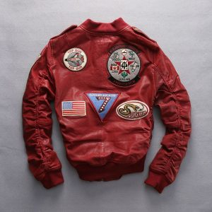 Carrier Air Wing Red Bomber Jacket