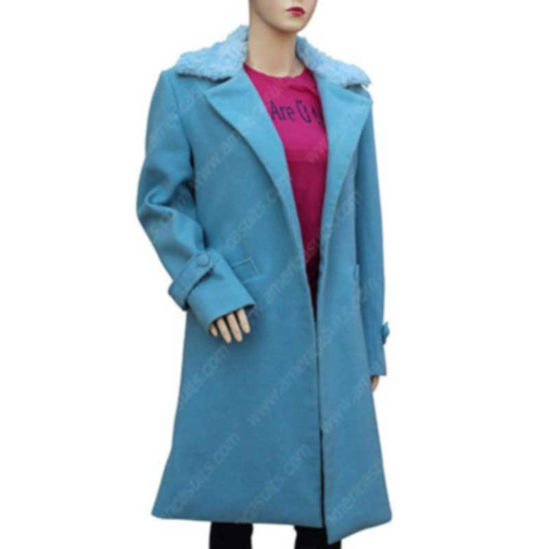 Bird Box Sandra Bullock Blue Coat