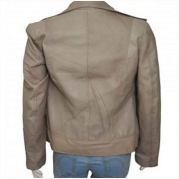 Lucifer Chloe Decker Grey Leather Jacket