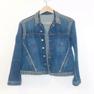 Spinning Out Jenn Yu Studded Denim Jacket