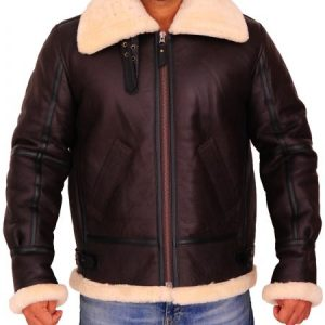 Men B3 Sheepskin Shearling Bomber Jacket