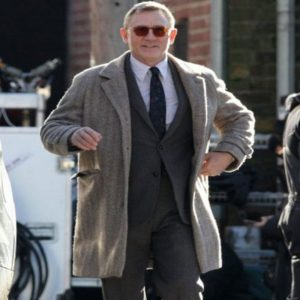 Knives Out Daniel Craig Grey Coat