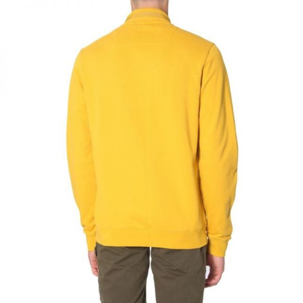 Men's Yellow Training Zip-up Hooded Sweatshirt