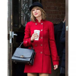 Taylor Swift Red Double Breasted Coat