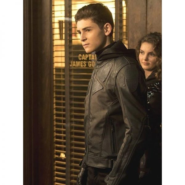 Bruce Wayne Gotham Leather Jacket