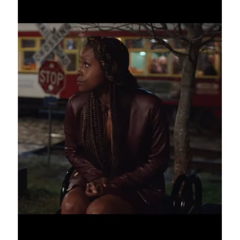 The Lovebirds Issa Rae Leather Jacket