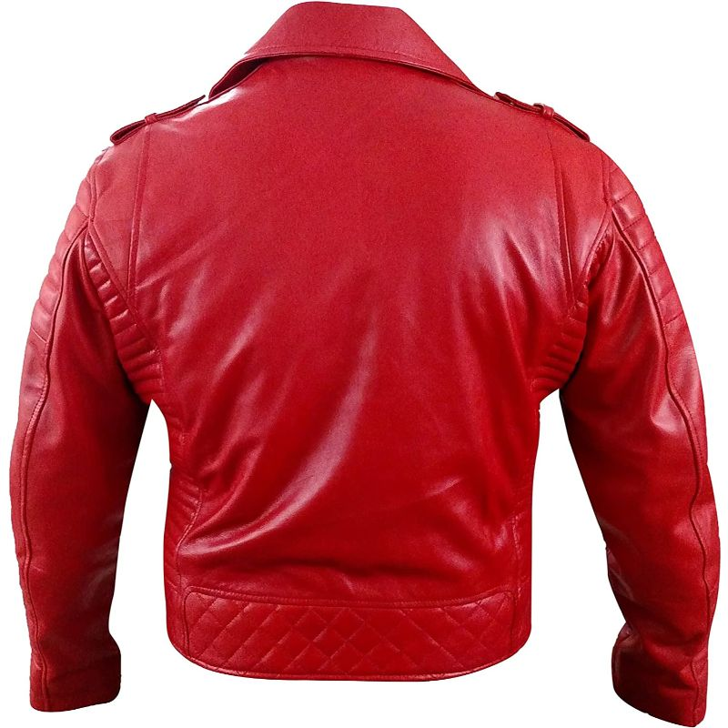 Asymmetrical Padded Red Jacket